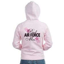 Proud Air Force Mom Zip Hoodie