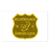 Ballroom Dancer Drinking League Postcards (Package