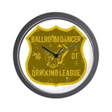 Ballroom Dancer Drinking League Wall Clock