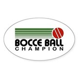Bocce Ball Champion Oval Decal