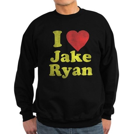 I Love Jake Ryan Dark Sweatshirt