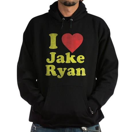 I Love Jake Ryan Dark Hoodie