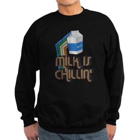 Milk is Chillin' Dark Sweatshirt