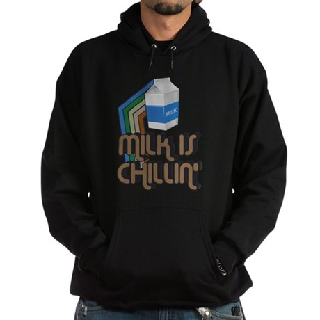 Milk is Chillin' Dark Hoodie