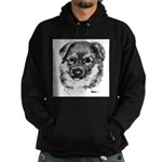 German Shepherd Puppy Hoodie (dark)