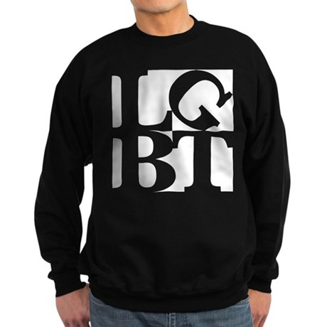 LGBT White Pop Sweatshirt (dark)