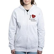 I Love Edward Cullen Womens Zip Hoodie