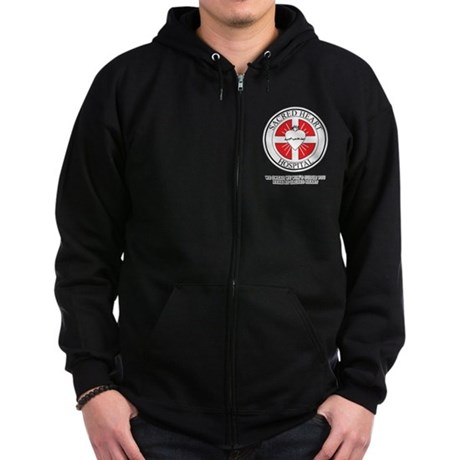Sacred Heart Hospital Zip Dark Hoodie