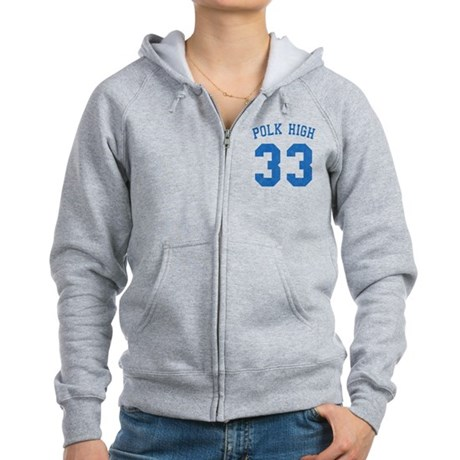 Polk High 33 Womens Zip Hoodie