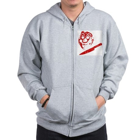 Michael Myers Clown Mask Zip Hoodie