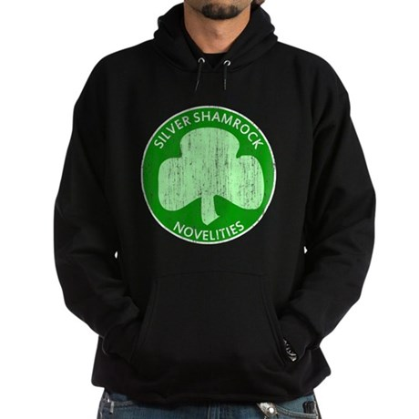 Silver Shamrock Dark Hoodie