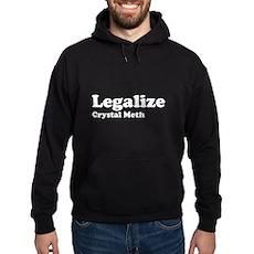 I Love Crystal Meth Dark Hoodie