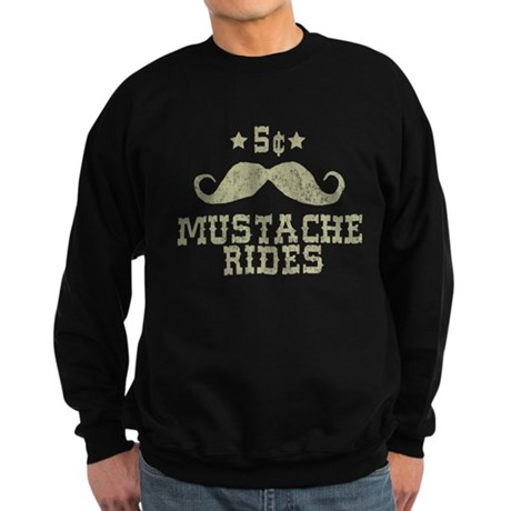 5 Mustache Rides (Vintage) Dark Sweatshirt