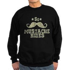 5¢ Mustache Rides (Vintage) Dark Sweatshirt