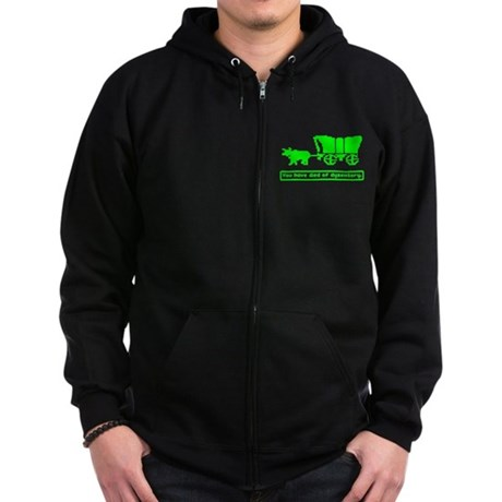 You have died Zip Dark Hoodie