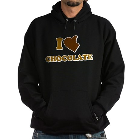 I Love [Heart] Chocolate Dark Hoodie