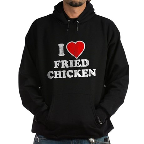 I Love [Heart] Fried Chicken Dark Hoodie