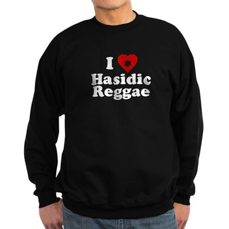 I Love [heart] Hasidic Reggae Dark Sweatshirt