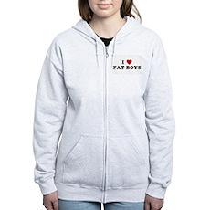 I Love [Heart] Fat Boys Womens Zip Hoodie