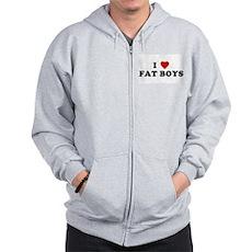 I Love [Heart] Fat Boys Zip Hoodie
