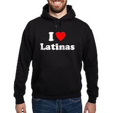 I Love [Heart] Latinas Dark Hoodie