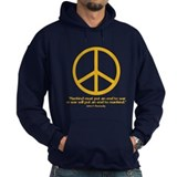 JFK w Orange Peace Sign Hoodie
