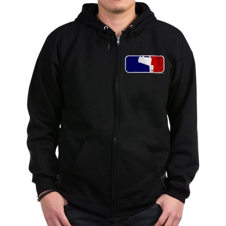 Beer Pong League Logo Zip Hoodie (dark)