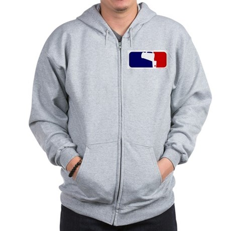 Beer Pong League Logo Zip Hoodie