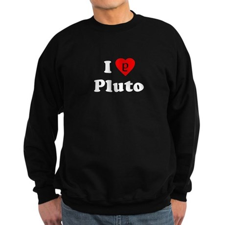 I Heart Pluto Dark Sweatshirt