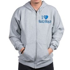 I Love [Heart] Snow Days Zip Hoodie