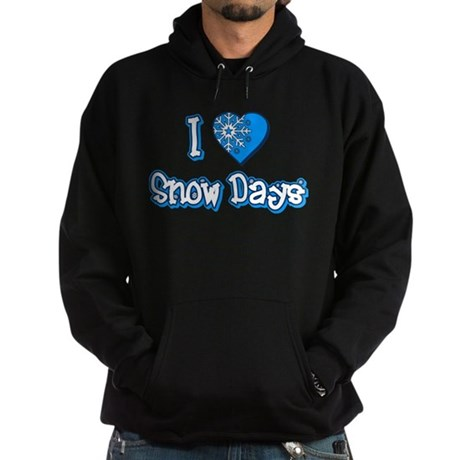 I Love [Heart] Snow Days Dark Hoodie