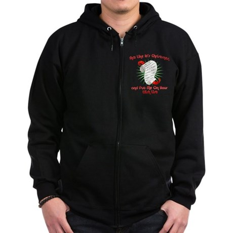 Act Like It's Christmas Zip Dark Hoodie