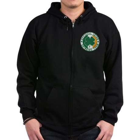 Official Irish Drinking Team Zip Dark Hoodie