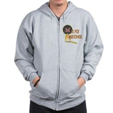 M is for Matches Zip Hoodie