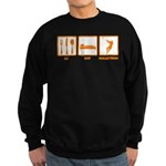 Eat Sleep Hammer Throw Sweatshirt (dark)