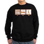 Eat Sleep Yoga Sweatshirt (dark)