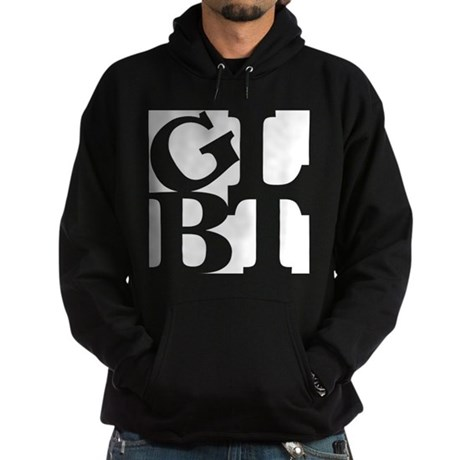 GLBT White Pocket Pop Hoodie (dark)
