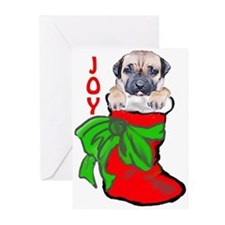 cane corso christmas puppy Greeting Cards (Pk of 1
