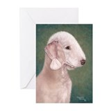 Bedlington (Liver) Greeting Cards (Pk of 20)
