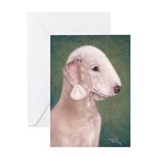 Bedlington (Liver) Greeting Card
