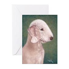 Bedlington (Liver) Greeting Cards (Pk of 10)