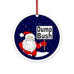 Santa Says Dump Bush Xmas Ornament