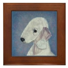 Bedlington (Blue) Framed Tile