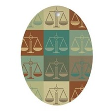 Criminal Justice Pop Art Oval Ornament