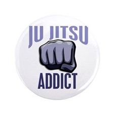 "Ju Jitsu Addict 3.5"" Button"