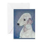 Bedlington (Blue) Greeting Cards (Pk of 10)
