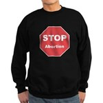 STOP Abortion Sweatshirt (dark)