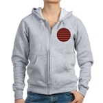 Red Pattern 997 Women's Zip Hoodie