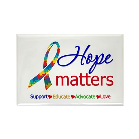 HopeMatters Autism Rectangle Magnet