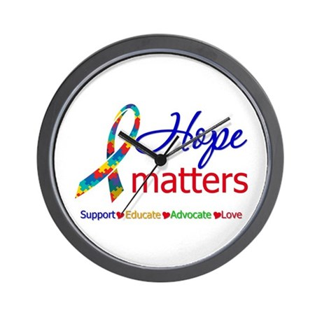 HopeMatters Autism Wall Clock